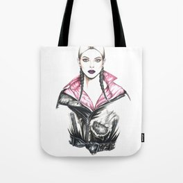 Watercolour Kendall Fashion Illustration Tote Bag