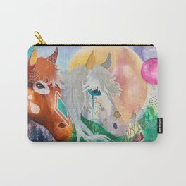 You and me - Horses - Animal - by LiliFlore Carry-All Pouch