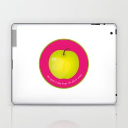 An apple a day keeps the Doctor away Laptop & iPad Skin