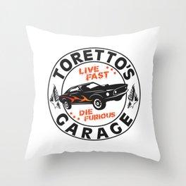 Fast & Furious - Toretto's Garage Throw Pillow