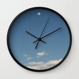 fly · moon sky Wall Clock