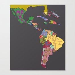 Map. Mapa. Carte. Dos! Canvas Print
