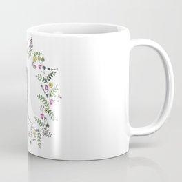 American Robin With Whimsical Flower Wreath Coffee Mug