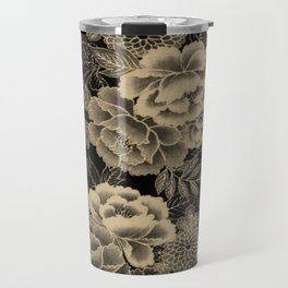 Vintage Floral Abstract Travel Mug