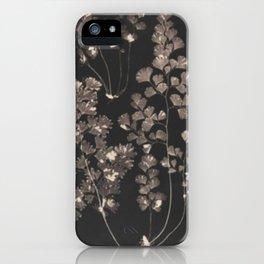 Black Maidenhair iPhone Case