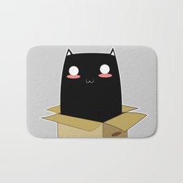 Black Cat in a Box Bath Mat