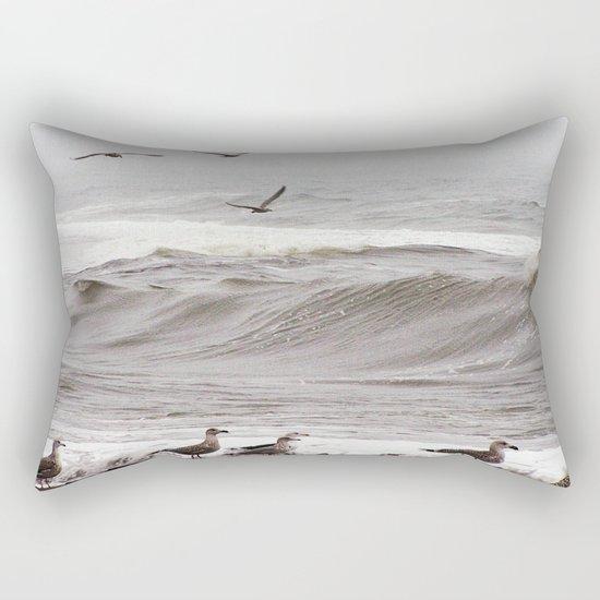Seagulls and the Surf Rectangular Pillow
