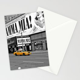 NYC - Yellow Cabs - Musical Stationery Cards