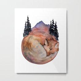 Fox Medicine Metal Print