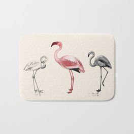 The Tres Flam-igos Bath Mat