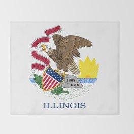State flag of Illinois Throw Blanket