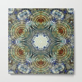 Mandalic Swirl New Kaleidoscope Metal Print