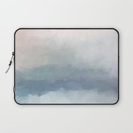 Blush Pink Mint Sky Baby Blue Abstract Ocean Sky Sunrise Wall Art Water Clouds Painting Print Laptop Sleeve