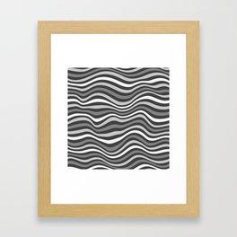 GrayWaving Framed Art Print