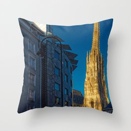 Stephen's Cathedral - Vienna city center Throw Pillow