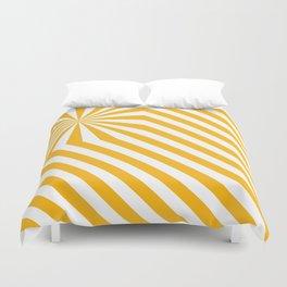Stripes explosion - Yellow Duvet Cover