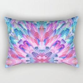 tropical bird feathers Rectangular Pillow