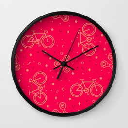 Bike and Chain Wall Clock