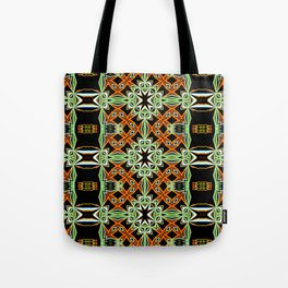 African Orange Pattern - Tribal Vibes Collection Tote Bag