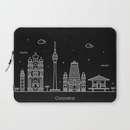 Colombo Minimal Nightscape / Skyline Drawing Laptop Sleeve