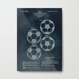 1963 - Soccer Ball patent art Metal Print