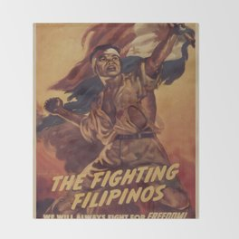Vintage poster - The Fighting Filipinos Throw Blanket