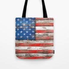 USA Vintage Wood Tote Bag