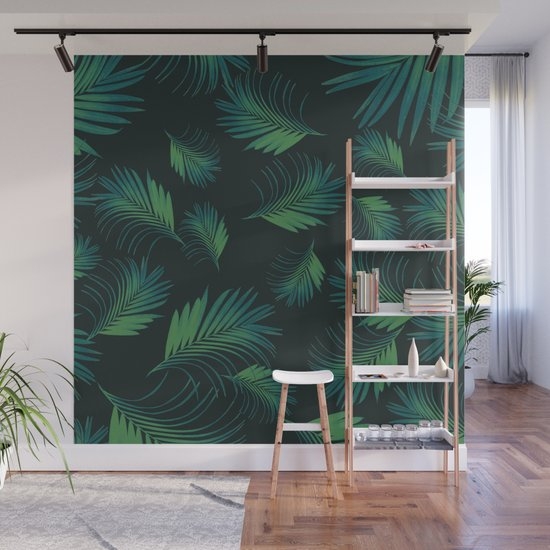 Tropical Night Palms Pattern #1 #tropical #decor #art #society6 by anitabellajantz