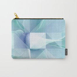 Soft Geo Agave - Aqua and blue Carry-All Pouch