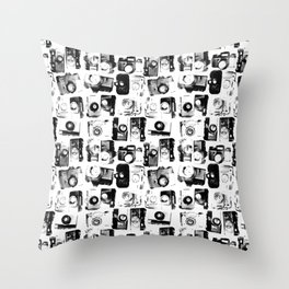 classic cameras Throw Pillow