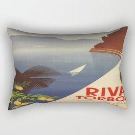 Vintage poster - Riva Torbole Rectangular Pillow