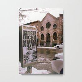 Beige City Metal Print