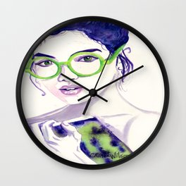 Clio; Musae of History Wall Clock