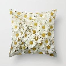 Daisy Mum Profusion Throw Pillow