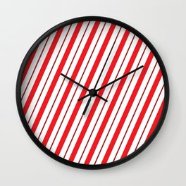 The Return of the Candy Cane - Christmas Illustration Wall Clock
