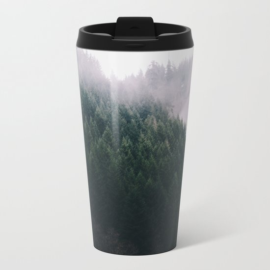Forest Fog V Metal Travel Mug