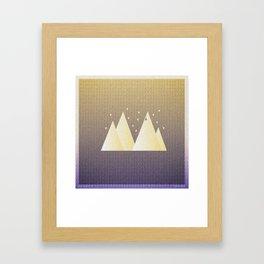 Music in Monogeometry : Bon Iver Framed Art Print