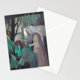 green witch Stationery Cards