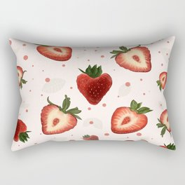 Strawberry/ red berry/ sweet berries/ summer sweets Rectangular Pillow