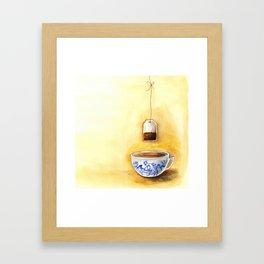 A cup of tea watercolor illustration Framed Art Print
