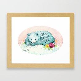 So Beary Sweet - With Hand Lettering Framed Art Print
