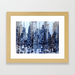 Dream in blue Framed Art Print
