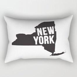 New York Typography Map Rectangular Pillow