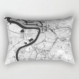 Antwerp Map Gray Rectangular Pillow