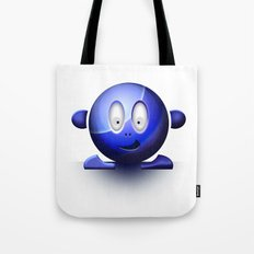 Emoticon Blue Tote Bag