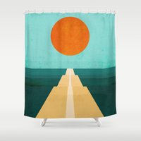 road Shower Curtains featuring The Road Less Traveled by Picomodi