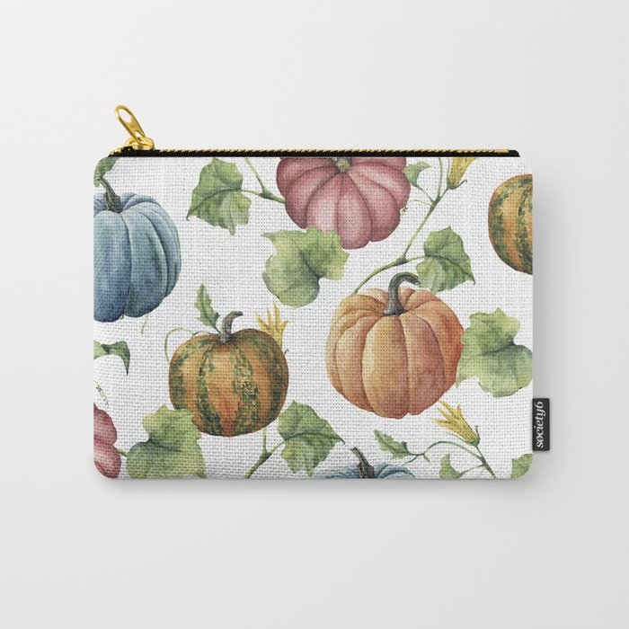 PUMPKINS WATERCOLOR carry all pouch by Magic Dreams