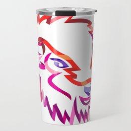 American Buffalo Ribbon Art Travel Mug