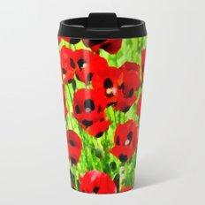 Poppies 4 Travel Mug