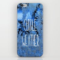 cuddle iPhone & iPod Skins featuring Cuddle Weather by ALLY COXON